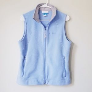 Columbia Fleece Full Zip Up Vest EUC!